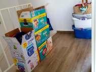 Die Kisten wollen trotzdem gepackt werden. ZIEL: Kein Stück mehr zurück!!!