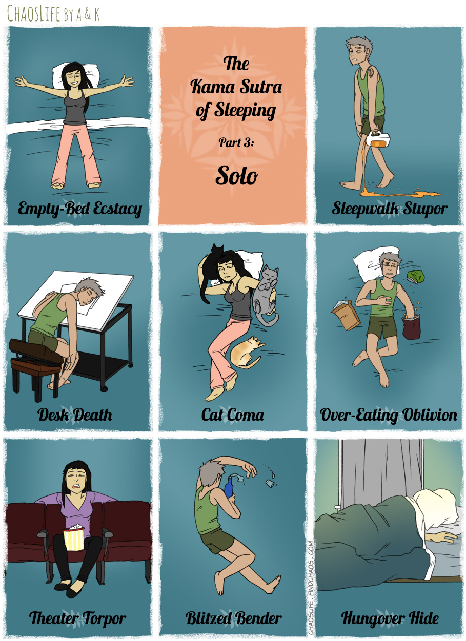 The Kama Sutra Of Sleep, Part 3: Solo