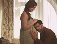 man loving pregnant wife