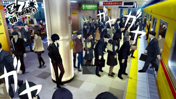 Persona 5 Japanese Subway