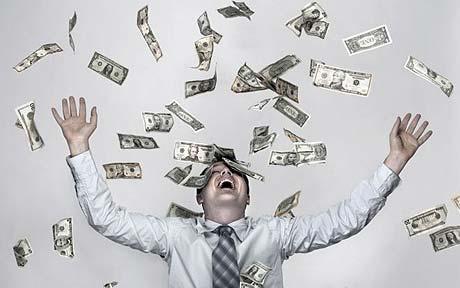 money shower, showering in money, make it rain