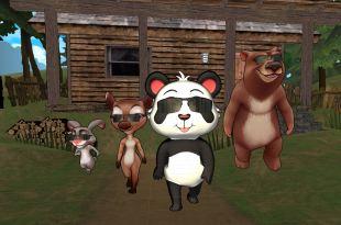 panda swagger animal friends