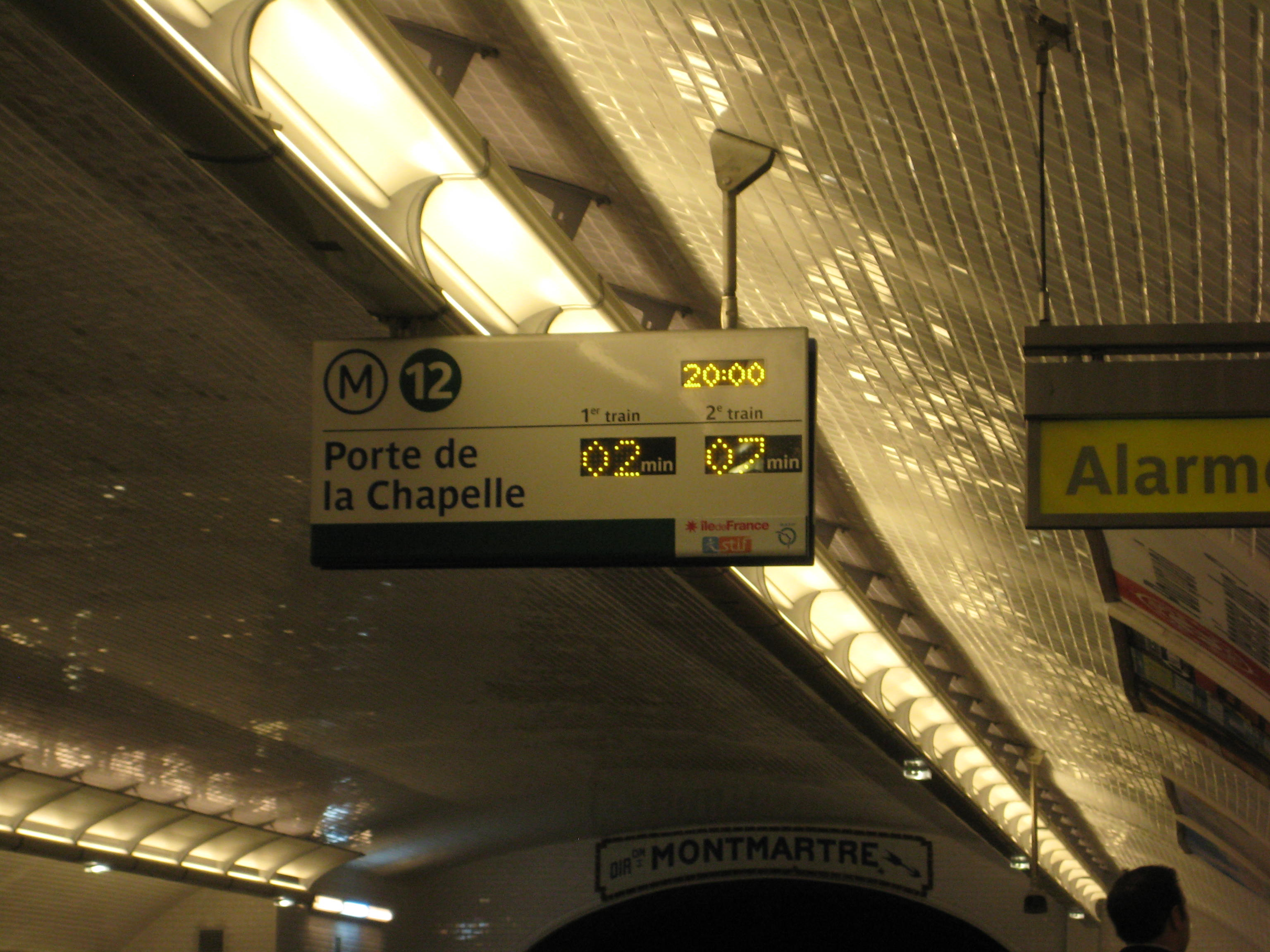 Talk about a great time management tool! In Paris, they let you know exactly when the next Metro will arrive!