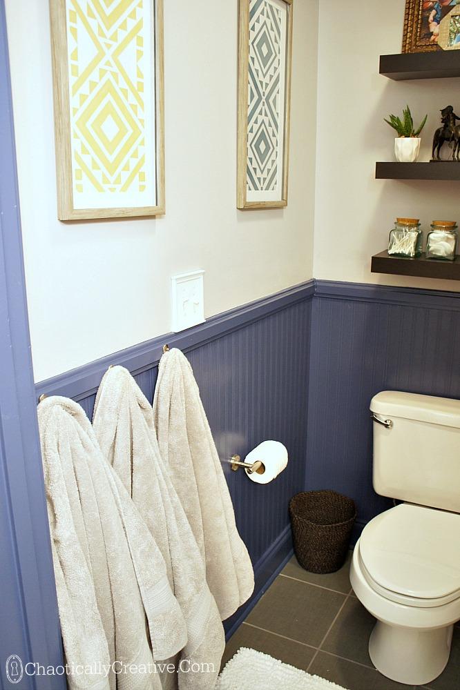 bathroom hooks - chaotically creative