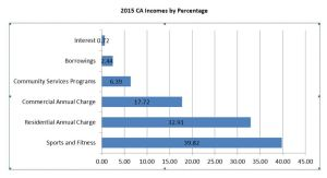2015 CA Income by percentage