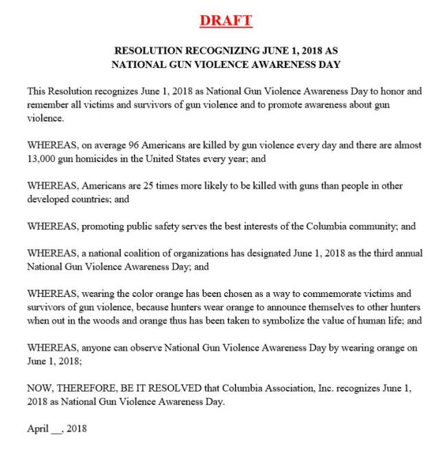 CA national gun violence awareness day