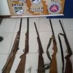 Operação da CIPE CHAPADA na zona rural de Andaraí aprende cinco armas,drogas e explosivos