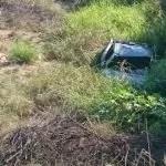 Capotamento na estrada do feijão próximo ao pau-ferro em Ipirá