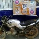 Cipe Chapada prende homem com moto roubada em Seabra