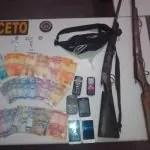Operação da Cipe Chapada e 11° BPM em Itaetê ,apreende armas ,drogas e dinheiro