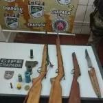 Cipe Chapada descobre esconderijo de armas e drogas em Iraquara