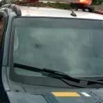 Lençóis; Protesto na BR 242, termina com viatura danificada