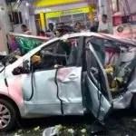 Mulher morre após carro explodir quando abastecia em posto de gasolina