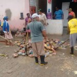 Volume de água supera tromba d'água de 2013; prefeito de Lajedinho reclama de promessas