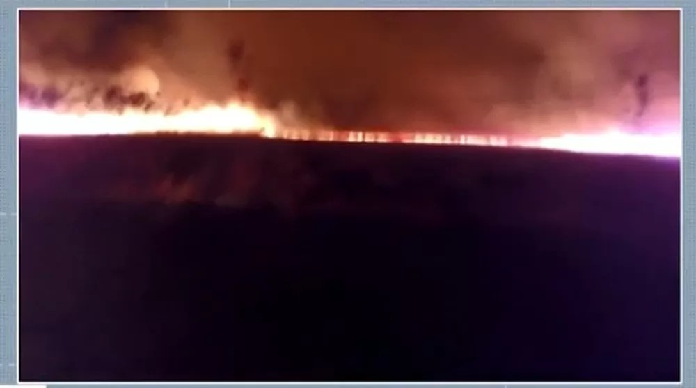 Incêndio atinge 100 hectares de fazenda em Ibicoara, na Chapada Diamantina