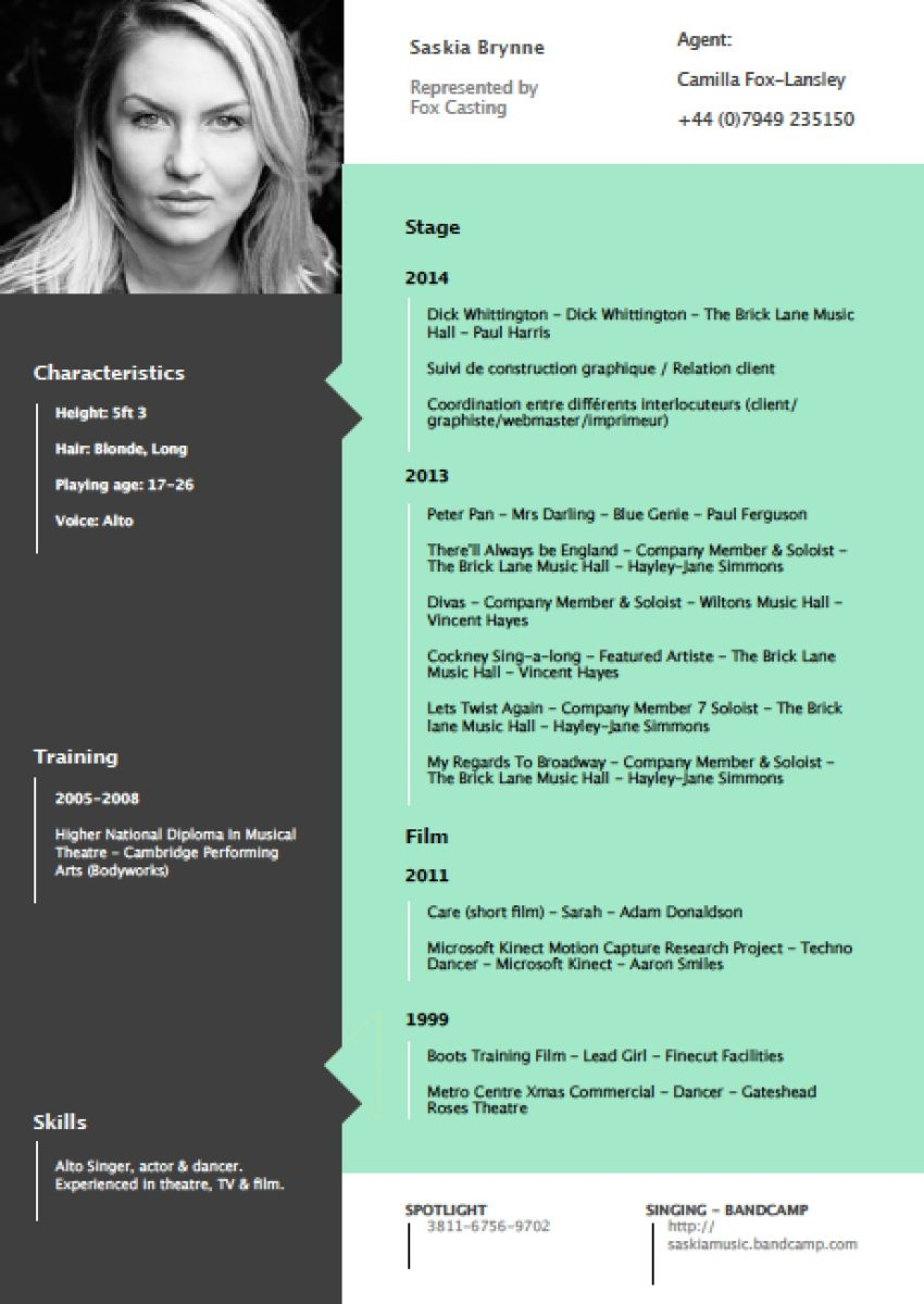Resume Layout Design. sample format graphic designer sample. 10 ...