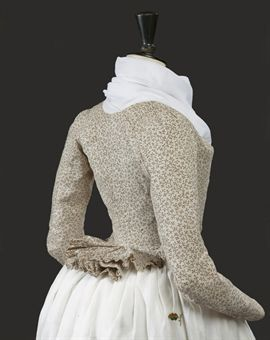 a lady's pierrot jacket of printed cotton circa 1790