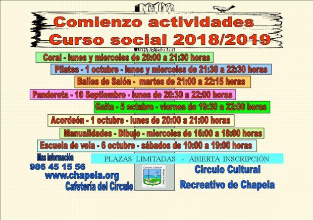 Actividades curso social 2018 / 2019