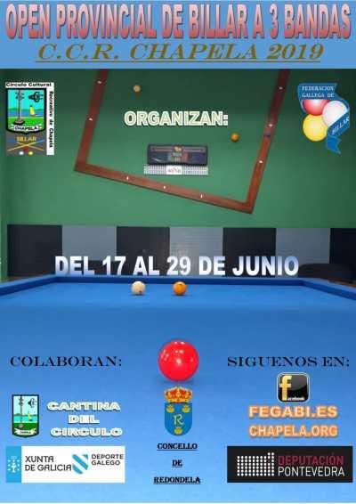 Open Provincial Billar 3 Bandas 2019
