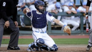 Catcher Korey Dunbar, who had three RBI last night on his birthday, added two more on Wednesday. (UNC Athletics)