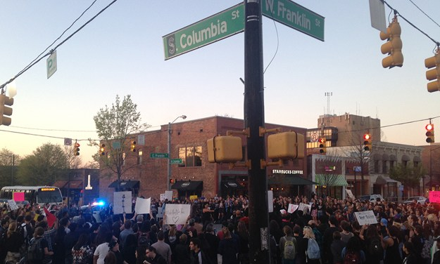 Protesters Shut Down Franklin and Columbia Streets