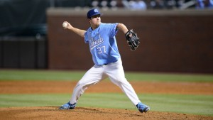 Spencer Trayner has been a go-to reliever for UNC head coach Mike Fox for each of the last three seasons. (Jeffrey A. Camarati/ UNC Athletics)
