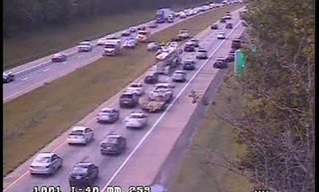 I-40 WB Accident Near I-85 Merge Causes Friday Afternoon Traffic Trouble
