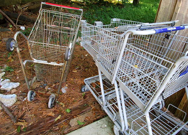 Abandoned Shopping Carts: Signs of Urban Decay