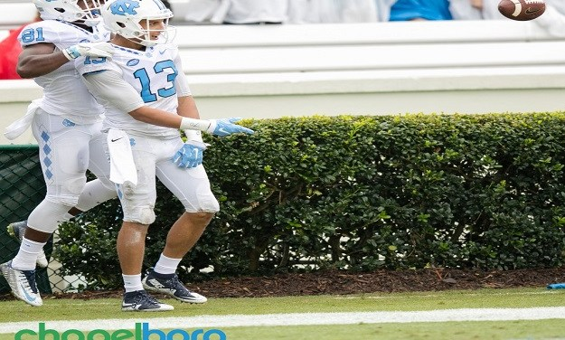 UNC Football Ready For Life Without Hollins During First Half vs. Georgia