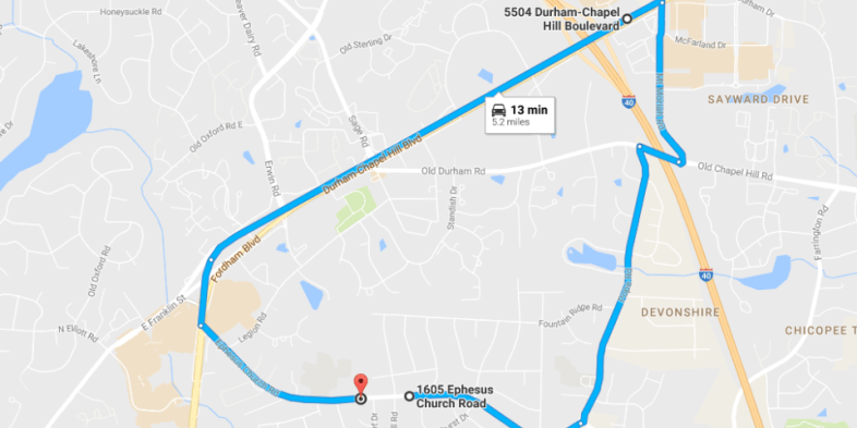 Ephesus Church Road Closure Leads to Significant Detour in Chapel Hill Starting Nov. 1