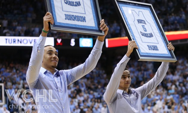 UNC Honors Brice Johnson, Marcus Paige at Halftime of Virginia Game