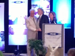 Ron Stutts receiving the 2012 NCAB Personality of the Year Award (June 24, 2013)