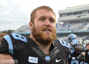 UNC Senior Offensive Tackle James Hurst.