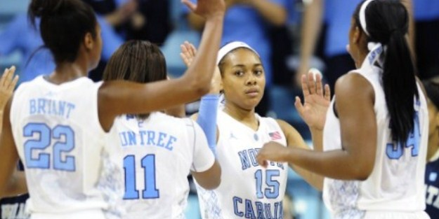 UNC Women Sneak Away With 74-71 Win Vs. JMU