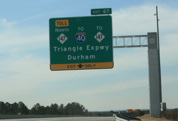 Triangle Expressway Toll Increases 5% With New Year