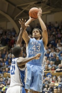McAdoo shooting over a Duke defender. (Todd Melet)