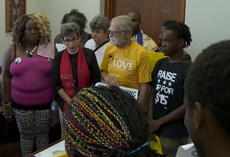 'Tillis 15' Join Rev. William Barber for Moral Monday Press Conference in Durham
