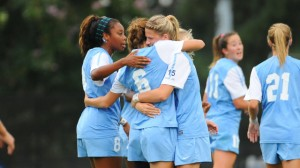 Carolina huddles up (UNC Athletics)