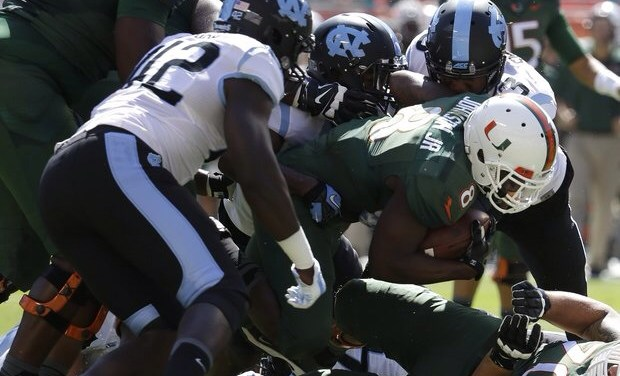 Tar Heels Trounced By Canes 47-20