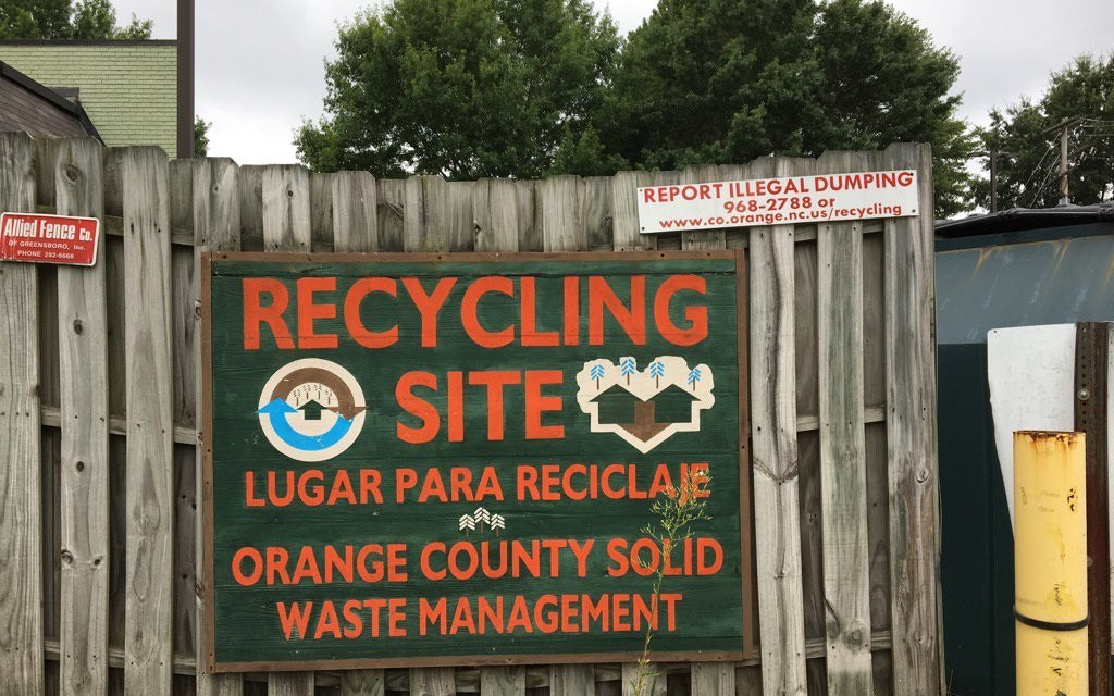 Carrboro Plaza Recycling Center to Close