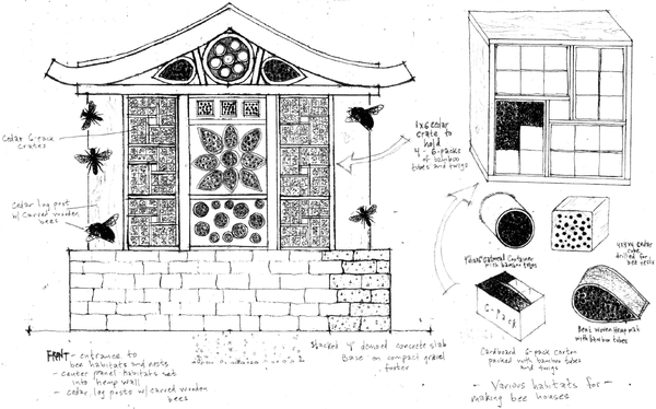 "Winning Design Chosen for ""Bee Hotel"""