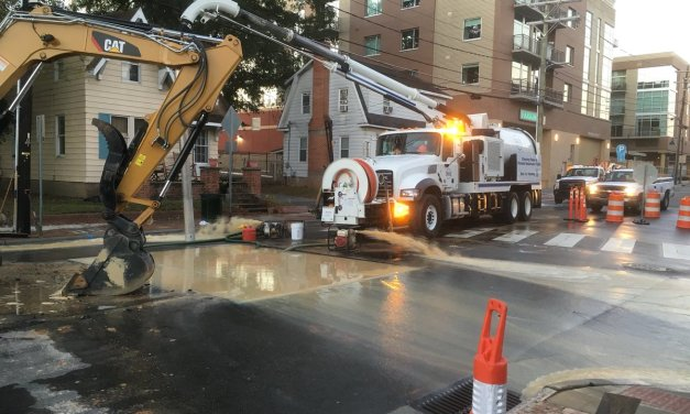 Water Main Break Closes Part Of Rosemary Street