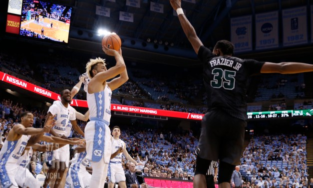 UNC's Shea Rush Sinks Shot from Smith Center Upper Deck