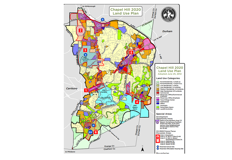 Chapel Hill Expands Conditional Zoning Working to Rewrite Land Use