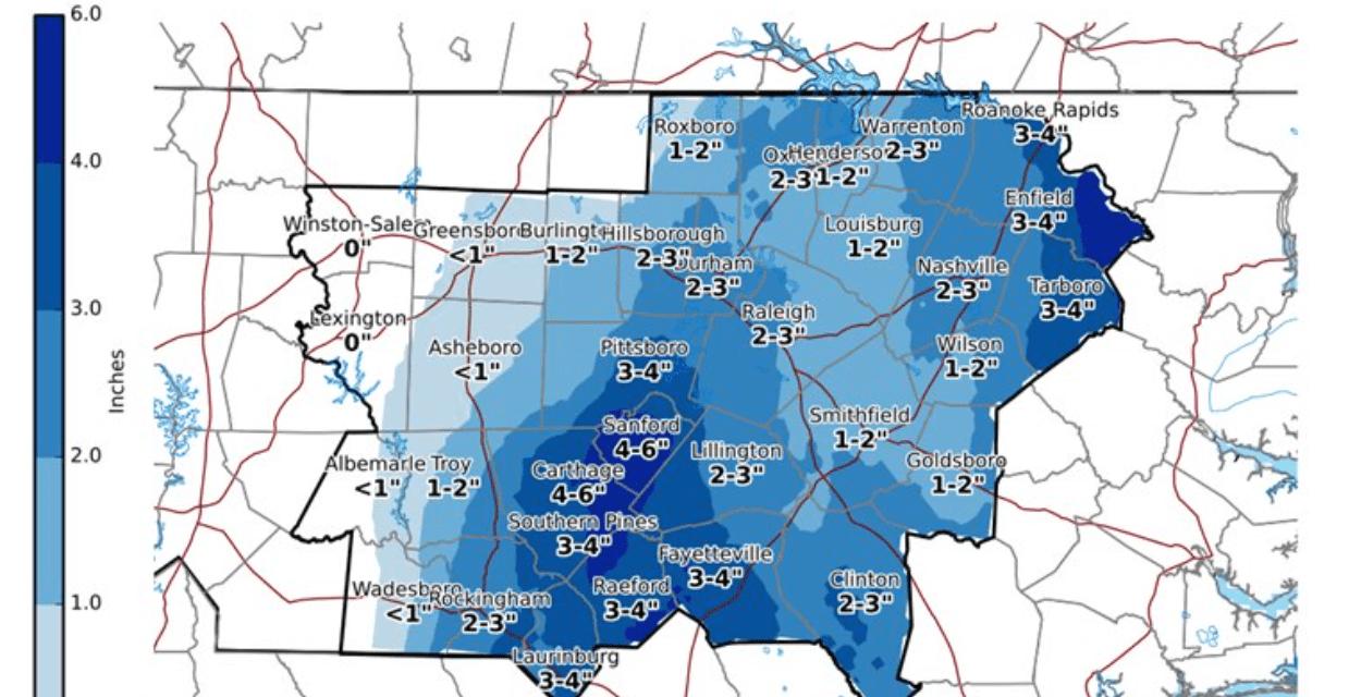 North Carolina Reports Third Snowstorm Death