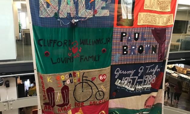 Panel of AIDS Memorial Quilt on Display at UNC
