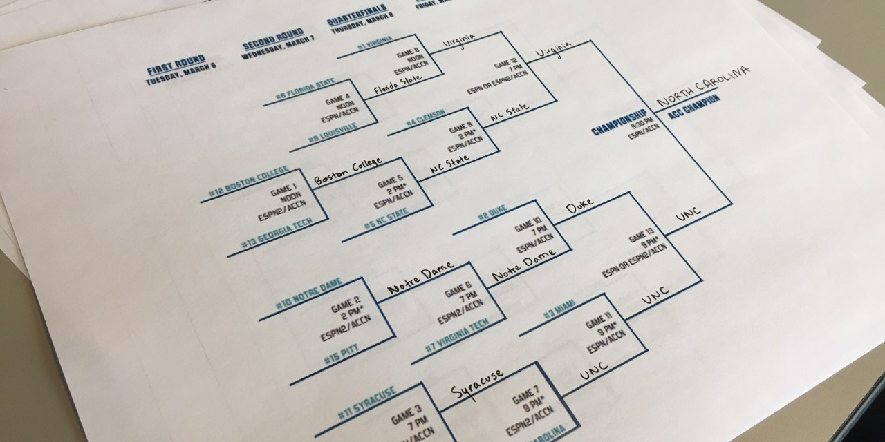 2018 97.9 The Hill WCHL ACC Bracket Challenge