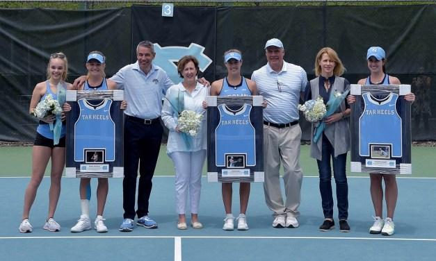 UNC Women's Tennis Cruises By Pitt on Senior Day