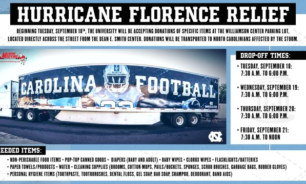 UNC Assisting Hurricane Florence Relief Effort