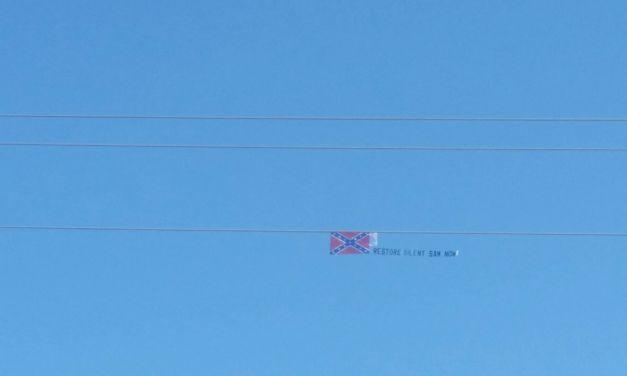 Banner Flies Over Chapel Hill Calling for Restoration of Silent Sam